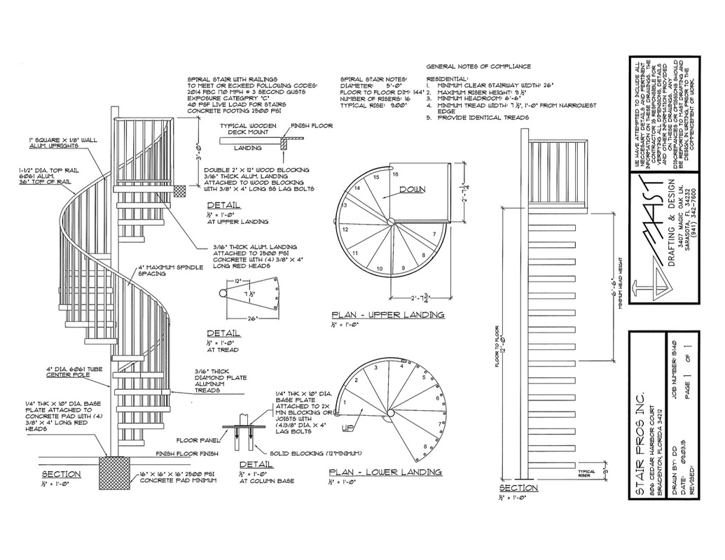 Blueprint Spiral Stairs And Rails Since 2004